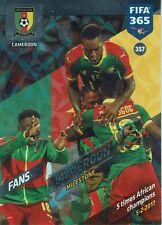 Panini FIFA 365 Adrenalyn 2018 Fans Milestone Cameroon Nr. 357