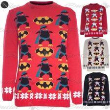 Batman Niños Pingüino Niña Unisex Navidad Suéter Vestido Punto Sudadera