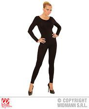 6412061423fa Einteiler, Body, Overall Jumpsuit lang, Sport schwarz, Damen, S, M