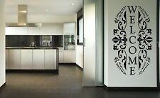 Bienvenue Autocollant Mural Vinyle Décalque Transfert amovible Wall Art/porte 15 cm x 25 cm