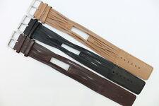Original Gooix Watch Pad Uhrenarmband Leder Schwarz Braun Stegbreite: 8mm