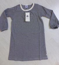 Nachthemd mit langem Arm, marine/weiß geringelt, von Petit Bateau. NEU!!!