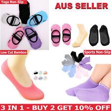 Women Girls Non-slip Heel Grip Socks Invisible Low Cut Socks Yoga Sports Socks