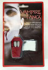 VAMPIRE DRACULA FANGS CAPS FANCY DRESS TEETH FAKE BLOOD HALLOWEEN HORROR