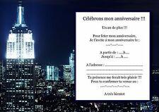 5 o 12 invitaciones de cumpleaños REF 901