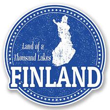 2 x Finland Vinyl Sticker Decal iPad Laptop Car Travel Luggage Tag Gift #4750