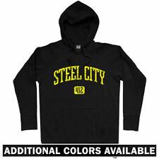 Steel City 412 Pittsburgh Hoodie - Steelers Penguins Pirates PA PITT - Men S-3XL