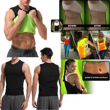 Neoprene Slim Shirt Body Fat Burner Shapers Men Women Black Tank Top Size S-3XL
