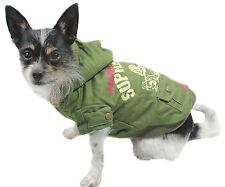 Mantel Hundejacke Hundemantel Jacke XS S M L XL Hund Winter grün warm NEU