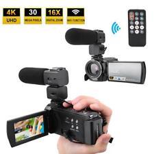 Black HDR-AE8 4K HD 3.0 Inch Touch Screen Night Vision 16X WIFI Digital Cameras