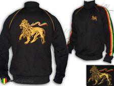 Veste Jacket Chaqueta Rasta Reggae Lion of Judah en dos Brodé devant Jah Star