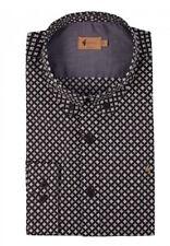 Gabicci Vintage Shirt Black White Size Medium V33GW09 Long Sleeve Button Collar