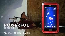 LOVE MEI Waterproof Metal Glass Shockproof Outdoor Case Cover for HTC U11 U12 +