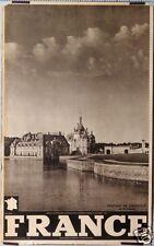 AFFICHE ANCIENNE TOURISME FRANCE Ci 1930-40 CHATEAU DE CHANTILLY ILE DE FRANCE