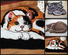 Beautiful Cat Mat Ginger Kitten Grey Rug Carpet Floor Bath Bed Lounge Kids Room