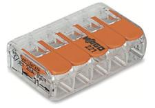 COMPACT-Verbindungsklemme WAGO 5-Leiter-Klemme mit Betätigungshebeln