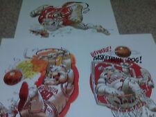 Georgia Bulldogs Football & Basketball Jack Davis Artwork Print (3 total) UGA