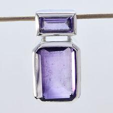 exquisite Amethyst 925 Sterling Silver Purple Pendant Natural Designer US gift