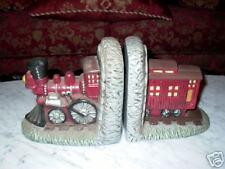 Railroad Train Ceramic Bookends Book Ends