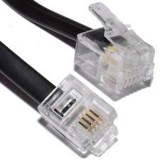 20m ADSL Haut Débit Câble Modem RJ11 pour RJ11 Noir [006474]