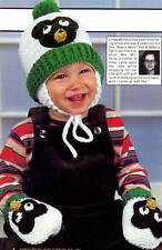 CUTE Bear Hat & Mittens Set/Crochet Patterns