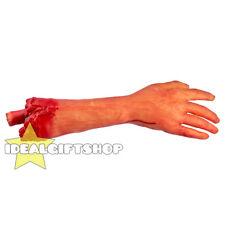Halloween partes del cuerpo de tamaño real cortadas Utilería Sangriento Falso arma corta de utilería