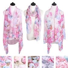 TrendsBlue Multi Use Floral Chiffon Kimono Scarf Wrap Vest Beach Cover Up