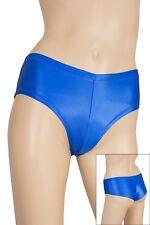 Damen Wetlook Panty Slip Farbe Royalblau Glanz super elastisch Hauteng S - XXL