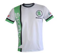 Skoda Motorsport logo unique handmade sublimation graphics men's t-shirt