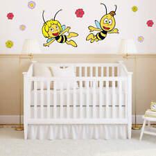 Wandtattoo Wandtattoo Die Biene Maja und Willi fliegen gelb