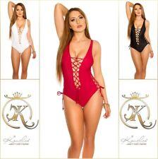 Monokini Beachwear Badeanzug Bikini mit Schnürung