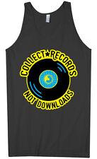 Collect Records Not Downloads Men's Tank Top Vinyl Music
