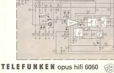 Telefunken  Original Service Schaltplan für Opus hifi 6060