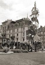 Place de la Gare Vevey Suisse  - Repro retirage photo ancienne deb. XXe