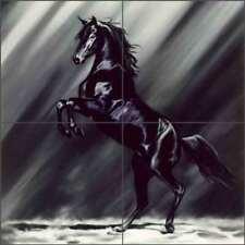 Horse Tile Backsplash Kim McElroy Equine Art Ceramic Mural KMA033