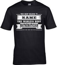 Mathématicien Homme Personnalisé T-Shirt Cadeau Maths mathématiques sciences sujet