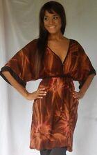 brown dress mini top tunic tie dye plus 2X 3X 4X zt207