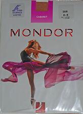 Mondor 358 Cabaret Shimmer Footed Dance Tights - Sand or Light Copper - 40 Den