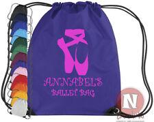 Zapatillas Ballet y Kit Bolso Elástico Gimnasio Colegio Baile Ballerina