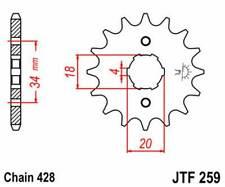 F25916: JT SPROCKETS Piñon JT 259 de acero con 16 dientes