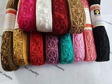 1 Yard Soft Beautiful embroidered pattern lace trimming ribbon Net Wedding dress