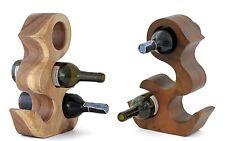 En bois casier à vin porte-bouteille support canard en forme de sculptés à la main. 2 couleurs