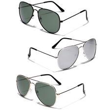 6X Bulk Lot Wholesle Aviator Style Sunglasses Metal UV Protector Multicolor Lens