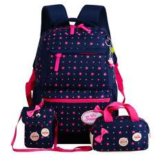 Girl Teenagers School Bag Backpack Set Waterproof Travel Bags 3 Pcs/Set SALE