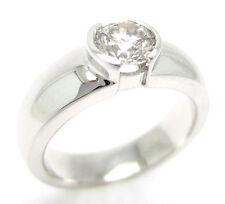 0.75CT ROUND CUT SOLITAIRE SEMI BEZEL DIAMOND ENGAGEMENT RING R17 G VS2/SI1