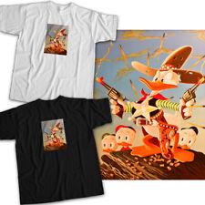 Disney Donald Duck Huey Dewey Louie Cowboy Sheriff Star Badge Unisex Tee T-Shirt