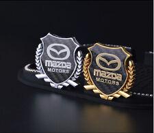 1x 3D Car Side Metal Badge Emblem Decal Sticker Fit  For Mazda Car