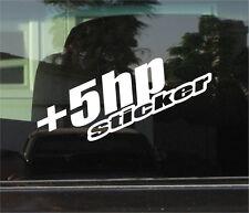 +5 HP (HORSEPOWER) STICKER  VINYL DIE CUT STICKER