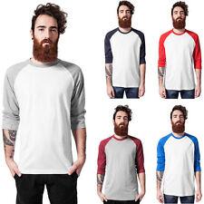 Urban Classics T-Shirt Raglan 3/4 Arm Herren T Shirt XS S M L XXL