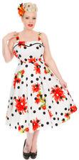 Hearts & Roses DAISY POLKA DOT Vintage Floral PUNKTE Swing KLEID Rockabilly